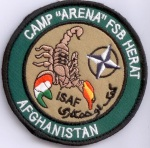 Camp Arena FSB Herat Afghanistan ISAF